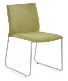 LEMON-tuolin jalusta valkoiseksi maalattua metallia. Istuin vihreä kangasverhoiltu. Tuoli toimitetaan valmiiksi kasattuna ja on pinottava.