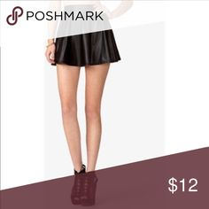 Faux leather skater skirt - Sz small Adorable faux leather skater skirt from F21. Excellent condition. Will post more pics later! Material is soft and not cheap looking. Forever 21 Skirts Circle & Skater