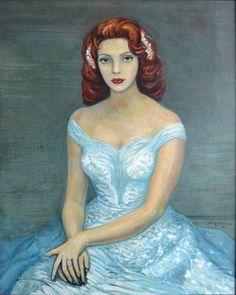 David Alfaro Siqueiros Retrato de dama , 1956