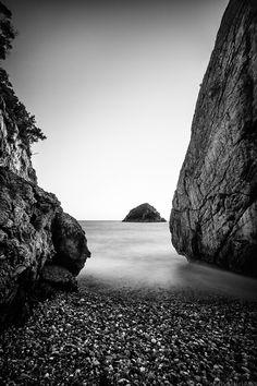 a long exposure at hiliadou beach, greece