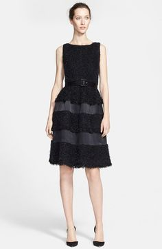 St. John Collection Mini Plaid Knit Dress available at #Nordstrom