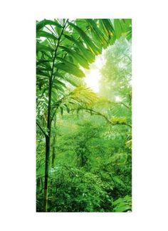 Regenwald Motivdruck Stoff 110 g/m², SCHWER ENTFLAMMBAR NACH B1.