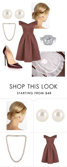 """Halloween ~ 50's Housewife"" by tahanidickson ❤ liked on Polyvore featuring Lanvin, Henri Bendel, Pearls Before Swine, Chi Chi and Christian Louboutin"