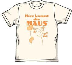 Amazon | Maus マウスがやってきたTシャツ ナチュラル サイズ:L | アニメ・萌えグッズ 通販