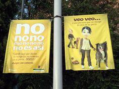 Cartel de una campaña cívica contra las cacas de perro en Granada.