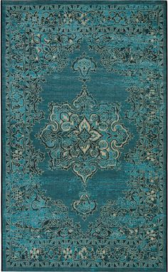 Safavieh Palazzo X Rectangle Synthetic Power Loomed Medallion Ar Turquoise / Black Home Decor Rugs Area Rugs Turquoise Rug, Turquoise Wallpaper, Cream Area Rug, Diy Bed, Power Loom, Color Azul, Rugs Online, Baby Clothes Shops, Decoration