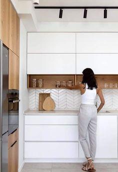 Home Decor Kitchen .Home Decor Kitchen Kitchen Room Design, Kitchen Cabinet Design, Home Decor Kitchen, Interior Design Kitchen, Home Kitchens, Kitchen Ideas, Small Modern Kitchens, Modern Kitchen Interiors, Kitchen Modern