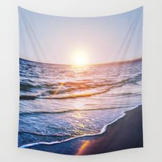 Available in three distinct sizes, our Wall Tapestries , Beach, ocean, sea, landscape, water, summer, summertime, sky, sunset, sunrise, photo, pic, picture, SEA SHORE, SHORE, FOAM, WAVES, photograph, photography, Nikon, dslr, camera, sunset, blue, sand, exposure, explore, Cyprus, love, nature, natural, sky, pink, interior design, designer, photographer, home decor, decoration, decoracao, decorate, wall art, art print, duvet , bedroom, living room, home, tapestry, GREEN