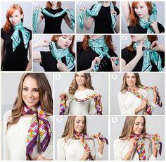 как носить шарф летний платок фото 1