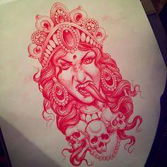 new ideas, dark art tattoo faces - new ideas, dark art tattoo faces You are in the right place about new ideas dark art tattoo - Dark Art Tattoo, Tattoo Flash Art, Color Tattoo, Tattoo Art, Kali Tattoo, Tattoo Sketches, Tattoo Drawings, All Seeing Eye Tattoo, Manga Tattoo