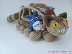 Crochet Amigurumi Totoro & Cat Bus - So Fun!