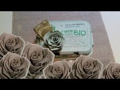 DIY: Roses en boîtes d'oeufs! Roses with egg carton! - YouTube Diy Fleur, Old Books, Paper Roses, Origami, Easy Diy, Creations, Scrap, Place Card Holders, Crafts