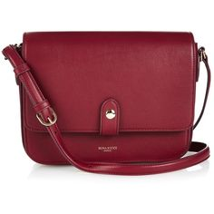 Nina Ricci Hirondelle leather cross-body bag (945 CAD) ❤ liked on Polyvore featuring bags, handbags, shoulder bags, leather handbags, crossbody handbags, leather man bags, red leather shoulder bag and handbags crossbody
