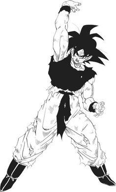 Goku from the Dragon Ball Z anime and manga Anime Tatoo, Manga Art, Anime Art, Manga Anime, Goku Manga, Ball Drawing, Image Manga, Dragon Ball Gt, Anime Comics