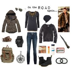 """""""On the road again... (with Supernatural)"""" by midsummersun on Polyvore"""