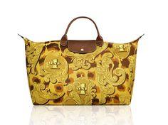 """Le Pliage """"Leopard Flourish"""" - Collaboration with Jeremy Scott. Longchamp Collection SS 2013"""
