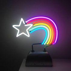 rainbow on a shooting stars
