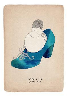 Kate Wilson illustration - bird in shoe