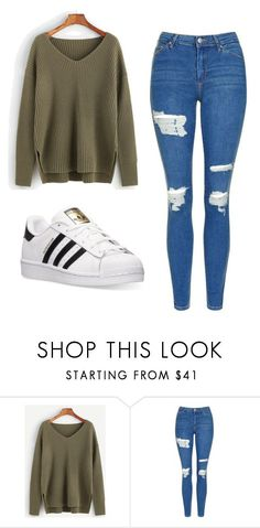 """Untitled #507"" by cuteskyiscute on Polyvore featuring Topshop and adidas #schooloutfits"