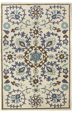 Ordered this rug for our entryway. Rugs USA Tuscan Woven Suzani Blue Rug. $129.50