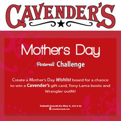 Cavender's Mother's Day Pinterest Challenge Contest