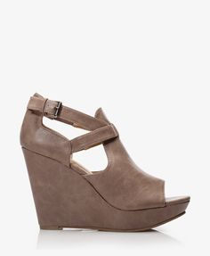Faux Leather Peep Toe Wedges | FOREVER21 - 2037050919