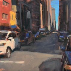"Carol Marine's Painting a Day - ""Shadowy Street"""