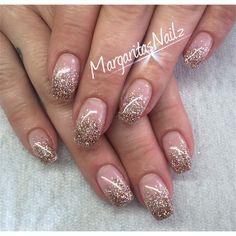 Champagne Glitter - Nail Art Gallery