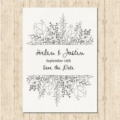 Free vector hand drawn wedding invitation - Weddings - Dresses, Engagement Rings, and Ideas! Floral Invitation, Invitation Design, Invitation Cards, Invitation Envelopes, Invitation Wording, Invitation Templates, Photo Wedding Invitations, Wedding Stationery, Illustrated Wedding Invitations