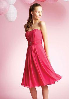 Buy Melting Strapless Fushia Beads Working 2013 Knee Length Bridesmaid Dress High End Online Cheap uk Prices