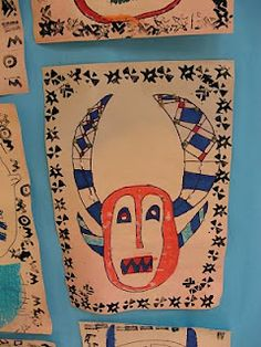 """One of our West African art projects from the book """"Dynamic Art Projects for Kids"""""""