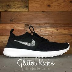from glitterkicks.com · Nike Juvenate Running Shoes By Glitter Kicks -  Customized With Swarovski Crystal Rhinestones -Black  d713769408