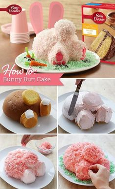 Think this oh-so-cute bunny butt cake is too complicated to make? Think again! The Betty Crocker editors walk you through the whole process step by step, including play-by-play photos! No wonder this is one of our most highly rated Easter recipes. Betty Crocker, Holiday Desserts, Holiday Treats, Holiday Recipes, Recipes Dinner, Spring Recipes, Pie Recipes, Holiday Parties, Cookie Recipes