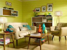 ¿Te gusta la decoración retro? No olvides que el color de las paredes es el principal elemento que le da ese toque #vintage a tu hogar.