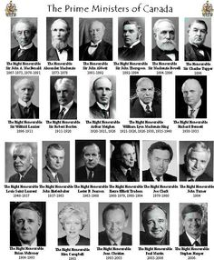 For my Canadian friends - here are the Prime Ministers of Canada, past and present. Canadian Things, I Am Canadian, Canadian Girls, Canadian History, Canadian Humour, Cool Countries, Countries Of The World, All About Canada, Premier Ministre