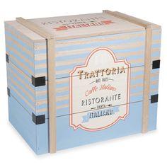 Cassapanca in legno blu TRATTORIA by Maisons du Monde