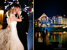 CLICK THIS PIN to see more night time romantic wedding photos at Blue Mountain Resort Collingwood, Canada.  blue mountain resort at night wedding