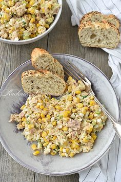 Rice Salad Recipes, Rice Recipes For Dinner, Corn Recipes, Healthy Recipes, Healthy Food, Yummy Food, Tasty, Polenta, Soul Food