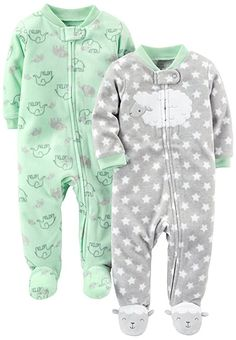 3 Months, Space Aliens Carters Baby Boys Cotton Sleep and Play Footed Pajama