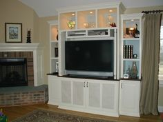 Creating The Customized Created Entertainment Center - http://www.interior-design-mag.com/home-decorating-ideas/creating-the-customized-created-entertainment-center.html