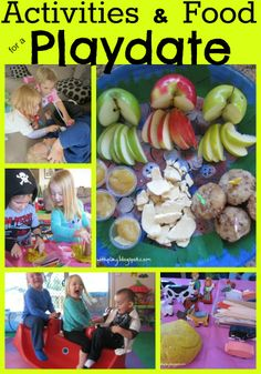 Learn with Play at home: Activities and Food for a Playdate.. yes, of course there's playdough! :)