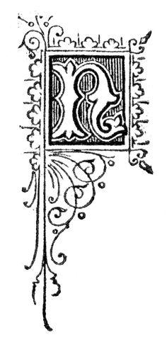 Free High Resolution Printable Vintage Initial Capital Letter 'N' Letter N, Initial Letters, Initial Capital, Vintage Books, Initials, Printable Vintage, Monograms, Free, Alphabet