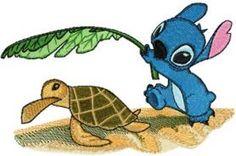 Stitch and Turtle machine embroidery design