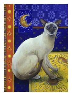 Siamese Cat, Series I by Isy Ochoa at AllPosters.com