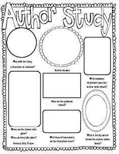 Author Study Worksheet - Worksheets, Lesson Plans, Teacher ...