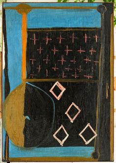 Robert Motherwell, Blue with Crosses on ArtStack #robert-motherwell #art
