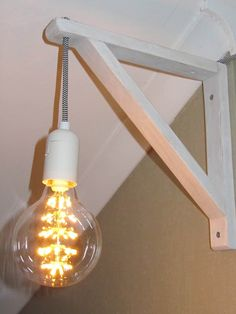 EKBY WALTER bracket, a lamp cord and a bulb. That´s it.