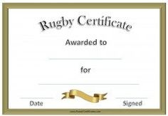 Free printable rugby certificates rugby awards rugby certificate a variety of free printable swimming certificates and awards many more free sports awards and award certificates on this site yadclub Images