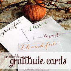 This Thanksgiving use these printable Gratitude Cards for your guests to fill out and keep as a memory. Do this every year and create a family gratitude book
