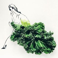 On Instagram Gretchen Roehrs Combines her Love for Fashion and Food. l #illustration #food